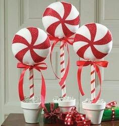 Large faux peppermint
