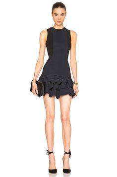 Lory Slash Ruffle Mini Dress