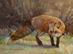 On the Prowl - Fox - by Joni Johnson Godsy