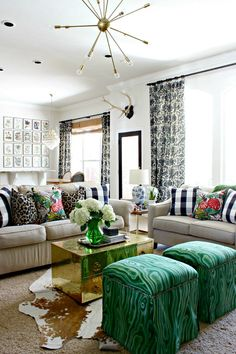 Lots of color and details in this living room design   Dimples and Tangles