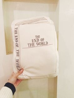 """moko - """"The End Of The World Pillow"""" 
