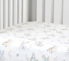 Peter Rabbit™ Organic Crib Fitted Sheet | Pottery Barn Kids. I am so tempted to do Peter Rabbit!