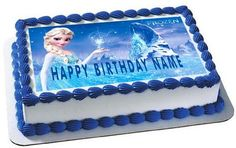 FROZEN 1  Edible Birthday Cake Topper OR Cupcake Topper, Decor
