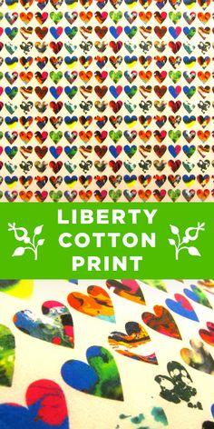 Liberty of London Colorful Heart 100% Cotton Lawn Print