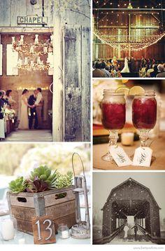 Trendspotting: Barn Weddings | Flights of Fancy Centerpiece