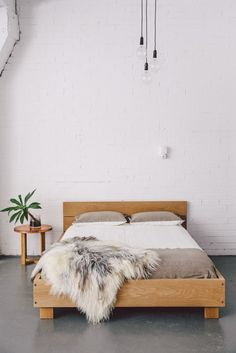 mrandmrswhite:  Beam Bed | Mr & Mrs White | Bedroom  | Beds, Minimalist Bedroom and Bedrooms