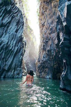 Alcantara Gorge, Sicily, Italy