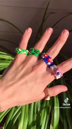 Fimo Ring, Polymer Clay Ring, Polymer Clay Crafts, Diy Crafts Jewelry, Fun Diy Crafts, Diy Clay Rings, Clay Art Projects, How To Make Clay, Ring Tutorial