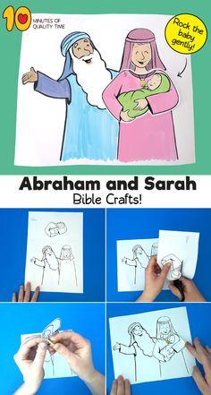 Abraham and Sarah Have a Baby Craft Bible Activities For Kids, Bible Stories For Kids, Bible Crafts For Kids, Preschool Bible, Bible Lessons For Kids, Baby Crafts, Primary Lessons, Sunday School Crafts For Kids, Bible School Crafts