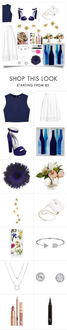 """""""Blue &a white"""" by meowoo ❤ liked on Polyvore featuring Alice + Olivia, Superdry, Prada, Ink & Ivy, Livingly, Trelise Cooper, Bling Jewelry, Dolce Vita, Lancôme and tenoverten"""