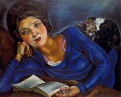 Renée et le chat (1920). Jose de Togores i Llach (Spanish, 1893-1970). Oil on canvas.