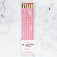 Hustle Darling Motivational Pencil Set Pink