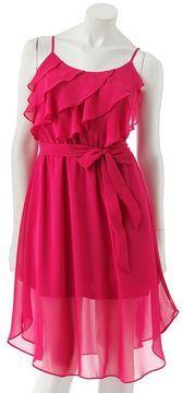 ShopStyle: Lc lauren conrad ruffle chiffon dress