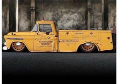 1955-56 Chevy work truck slammed