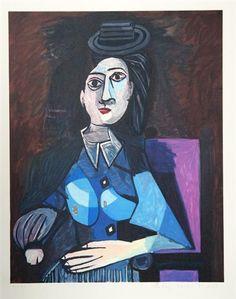 Pablo Picasso, Femme Au Petit chapeau Rond, Assise (Dora Maar)