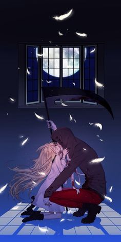 Angel of Slaughter 殺戮の天使 (Massacre Angel) (Satsuriku no Tenshi) 君が笑うまで Angels of Death Fanart Ray (Rachel Gardner) and Zack (Isac Foster) Manga Couple, Anime Love Couple, Cute Anime Couples, I Love Anime, Anime Angel, Ange Anime, Angel Of Death, Satsuriku No Tenshi, Image Manga