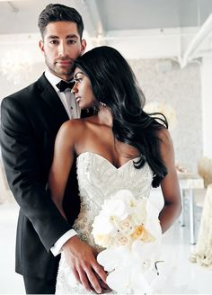 us —is the best, largest and most successful interracial dating site for black & white singles seeking interracial relationships, friendships, dating ,love and more. Interracial Wedding, Interracial Love, Interracial Marriage, Beaux Couples, Cute Couples, Black Woman White Man, White Women, Black White, Wedding Pictures
