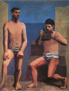 'Die Pan Pipes', öl von Pablo Picasso (1881-1973, Spain)