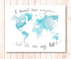 Httpmapsalesutmsourcepinterestutmmedium travel quote sky blue world map wall art decor poster digital print instant download printable i gumiabroncs Choice Image