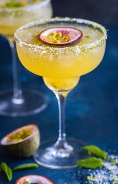 Sit back + relax with this refreshing Sparkling Passion Fruit Margarita recipe.