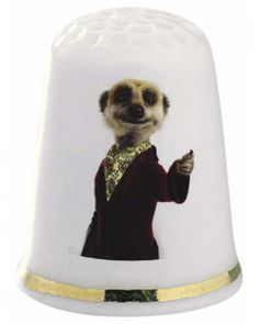 Aleksandr Orlov Meerkat Thimble - The Thimble Guild has everything from limited editions, novelty thimbles, china thimbles, wooden thimbles ...