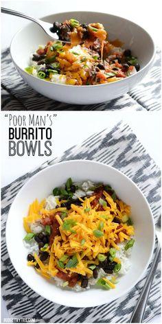 Poor Man's Burrito Bowls - BudgetBytes.com