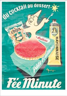 Vintage French Advertising Poster Fée Minute by NICOLITCH