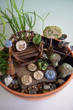 Fairy Garden Kit: Cinnamon Blossom Gift Set 11 Items