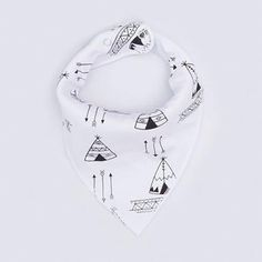 Baby Bandana Drool Bibs Unisex Single Gift for Drooling and Teething. Tent and arrows; baby shower gift