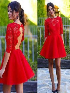 Short homecoming dress,blush homecoming dress,half sleeve homecoming dress,dress…