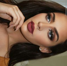 Carli makeup done with her palette love the makeup look