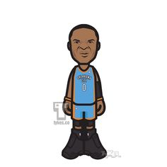 """Russell Westbrook """"Man on a Mission"""" Tyke. In an effort to vie for a playoff spot, Russell Westbrook scored a career-high 54 points, grabbed nine rebounds and handed out eight assists, only to fall to the Indiana Pacers 116-104. The Thunder made 41 baskets on the night; Westbrook scored or assisted on 29 of them.#RussellWestbrook #OKCThunder #Thunder #JordanBrand #NBA #basketball #tyke #tykes #MyTyke www.tykes.co"""