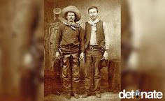 This picture depicts a true cowboy, Charlie Nebo, along with Nicholas Janis. Charlie never tried to inflate his achievements and was happy to live like a true frontier man.