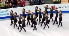 During the 2015 World Synchronized Skating Championship, Canada's Nexxice team put on an incredible performance that was unlike others. In fact, it was so extraordinary and well done - it helped earn them the gold medal.The video begins with team Canada positioned as a group.
