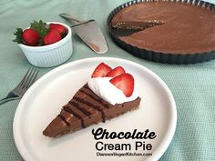 "From Chic Vegan.com - Dianne's ""Chocolate Cream Pie"" – Family Favorite Desserts entry for September"