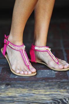 Gold Leaf Sandals: Pink Lemonade | Hope's
