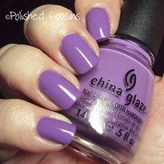 China Glaze Spontaneous... Such a rich purple color — yum!