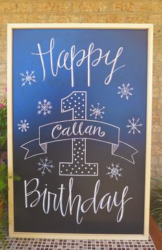 Preferred Goodness: Hand Lettered Birthday Sign