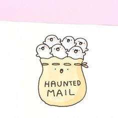 Do you think the mailman would be scared if he knew he's carrying a bunch of little ghosts? ✨ Spooky plushies are now available on shopkirakira.com ✨ Link in bio • • #kawaii #可愛い #かわいい #spookymccute #spooky #doodle #copicmarkers #coloring #haunted