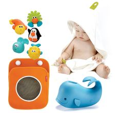 @Joy Cho / Oh Joy!'s roundup of toddler essentials. (bath time pictured - we love that whale!)