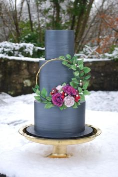 Wedding Cake Trends 2018 A Cake Collaboration Sugar Geek Show Floral Wedding Cakes, Wedding Cake Rustic, Elegant Wedding Cakes, Wedding Cake Designs, Wedding Cake Toppers, Elegant Cakes, Wedding Cake Display, Unique Cakes, Floral Cake
