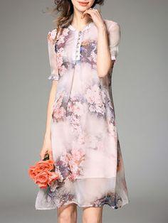 Floral-print Silk-Blend Midi Dress
