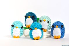 Penguin doll. Blue penguin Keychain, Aquamarine charm. Cute phone dangle. Desk decor. Stocking stuffer. Cute Crochet, Knit Crochet, Crochet Ideas, Penguin Party, Crochet Keychain, Holiday Crochet, Ribbon Design, Visionary Art, Wool Fabric