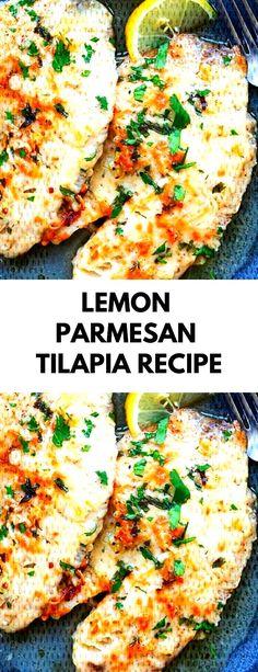 parmesan tilapia lowcarb recipe dinner lemon Lemon Parmesan Tilapia RecipeYou can find Best tilapia recipes and more on our website Tilapia Shrimp Recipe, Lemon Tilapia, Baked Tilapia Recipes, Parmesan Tilapia, Easy Soup Recipes, Bacon Recipes, Cooking Recipes, Healthy Recipes, Recipes Dinner