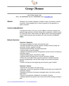 international job resumes