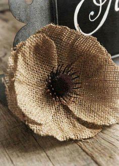 Flower Crafting Burlap, hemp, jute - all great materials for flower making Burlap Fabric, Burlap Lace, Burlap Flowers, Felt Flowers, Diy Flowers, Fabric Flowers, Paper Flowers, Hessian, Burlap Projects