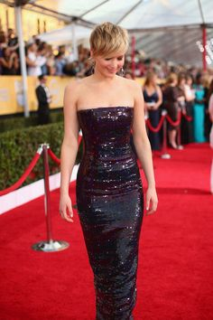 Red carpet Sequin beauty, Jennifer Lawrence.