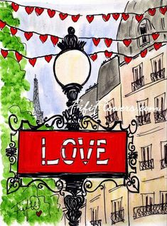Sign+of+Love+in+Paris+por+fififlowers+en+Etsy,+$25,00