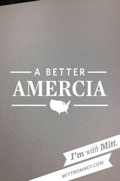 "- Screenshot from the Mitt Romney campaign Web app, ""With Mitt"". The app launched late Tuesday and lets users take pictures with various Romney campaign slogans overlaid on them, and then send them to friends or post them online. A typo in one of the slogans, ""A Better Amercia"", was quickly picked up on Twitter and elsewhere. See the flood of reaction from across the social media sphere: http://on.wsj.com/KIvyCo"