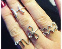Zodiac Sign Adjustable Ring